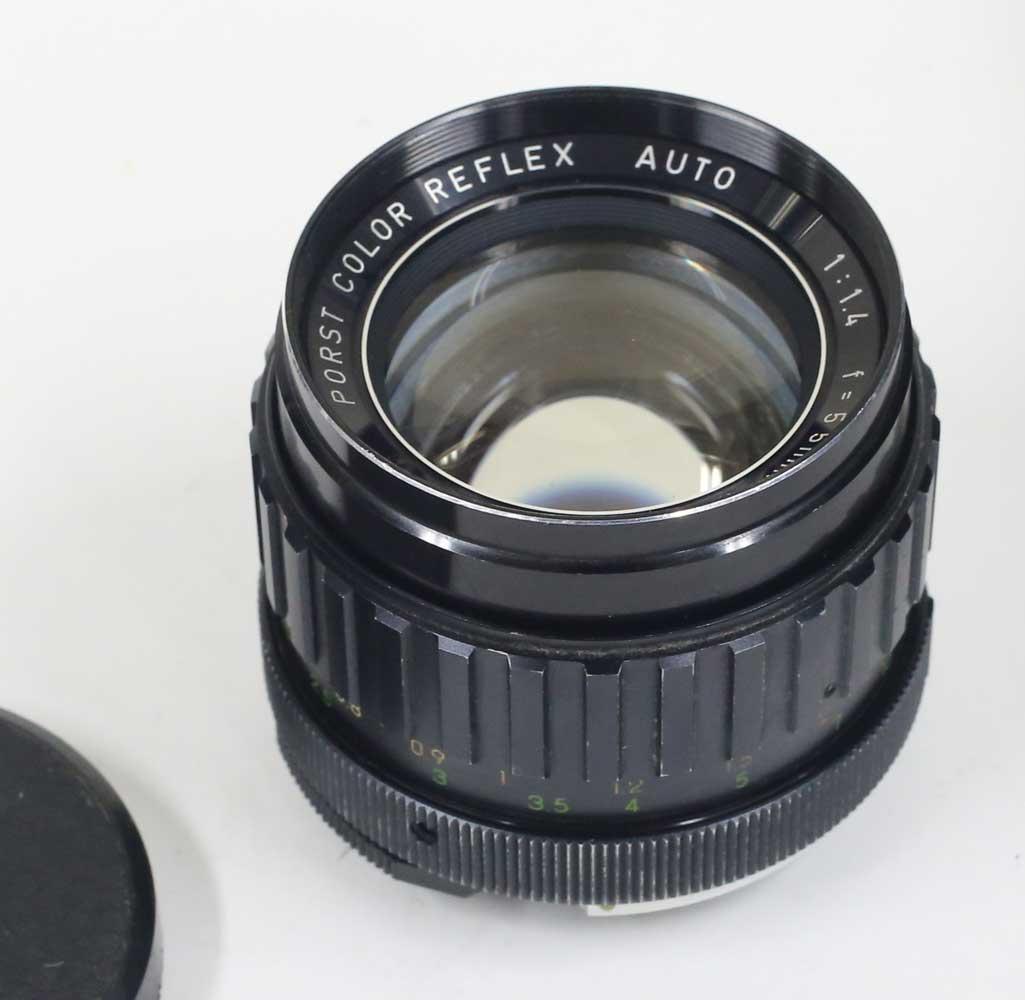 日本製レンズ ポルストカラーリフレックス 1.4/55mm M42用 PORST COLOR REFLEX AUTO 1:1.4 f=55mm for M42