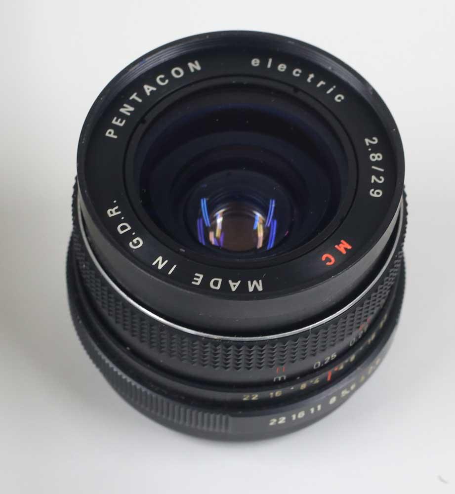 ドイツ製レンズ ペンタコン・エレクトリック 2.8/29 MC M42用 PENTACON electric 2.8/29 MC for M42