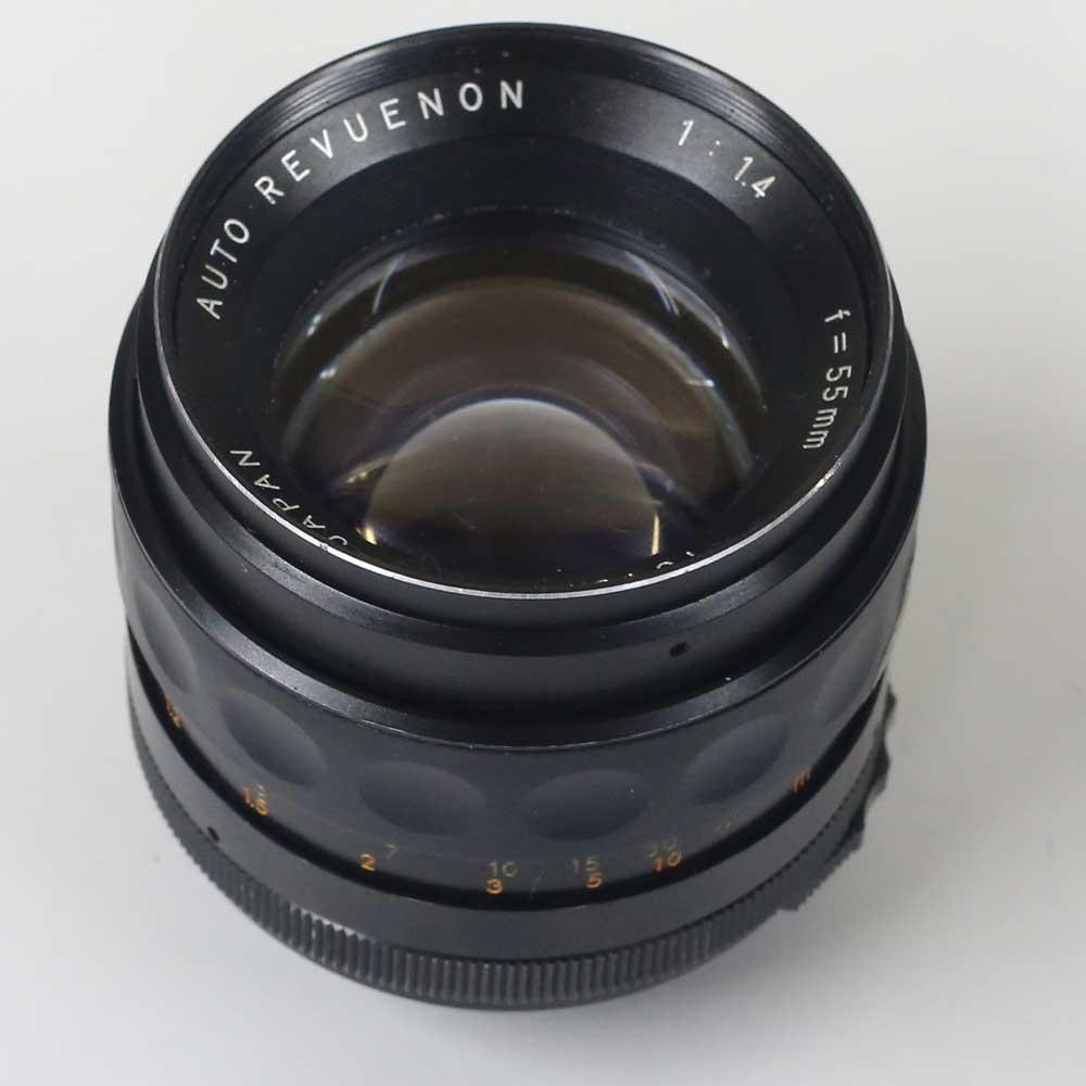 日本製レンズ オート・レフエノン 1.4/55mm M42用 AUTO REVUENON 1:1.4 f=55mm for M42