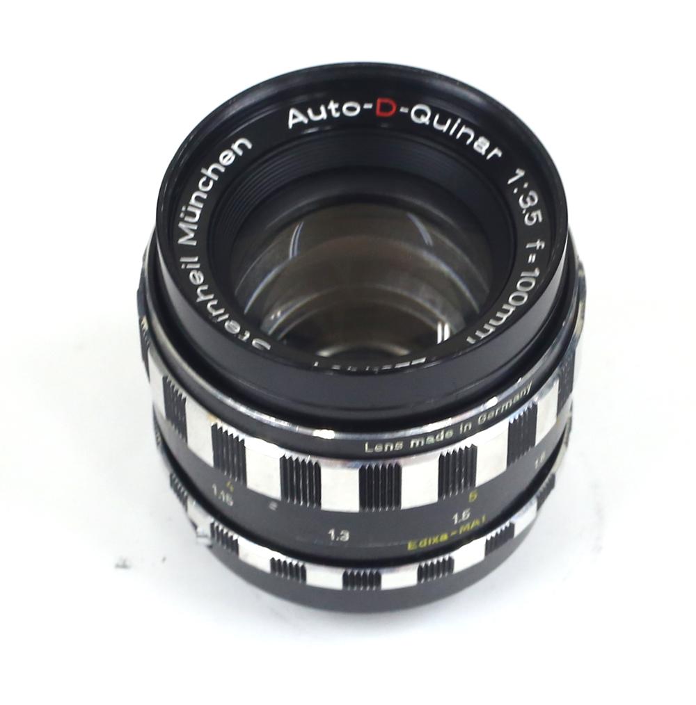 ドイツ製レンズ シュタインハイル オートDテレ・クヴィナー 3.5/100mm M42用Steinheil Munchen Auto-D-Tele-Quinar 1:3.5 f=100mm for M42