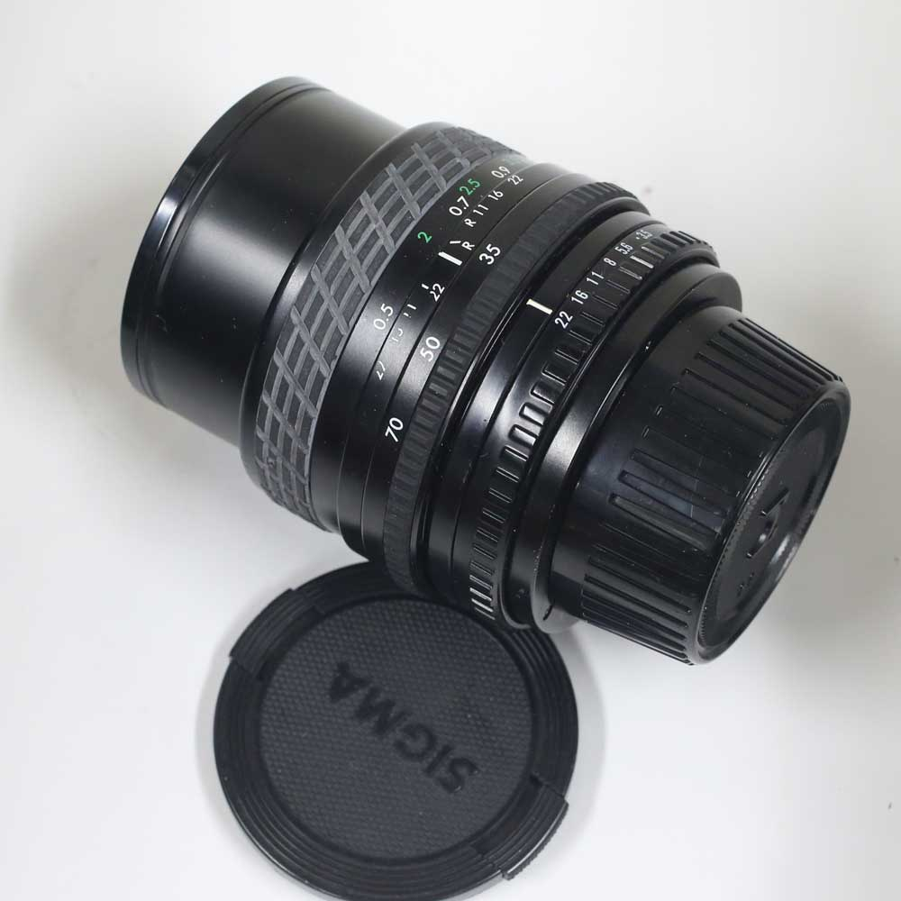 日本製レンズ シグマ 1:3.5-4.5 f=35-70mm M42用 SIGMA ZOOM MASTER MULTI-COATED 1:3.5-4.5 f=35-70mm for M42