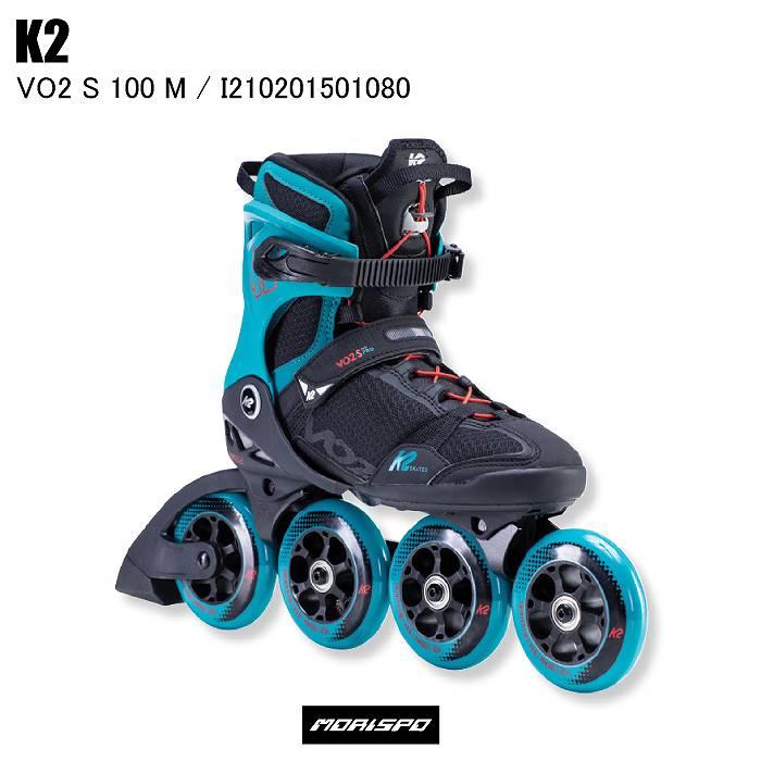 商品レビュー記入でクーポンGET K2 ケイツー VO2 格安 S 100 M ブラック インラインスケート 大人 SEAL限定商品 メンズ I210201501080 ティール