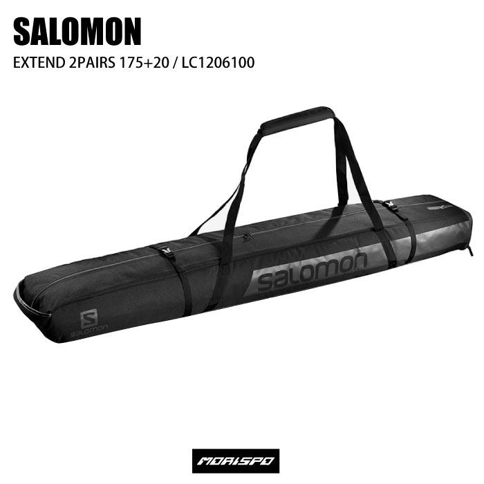 商品レビュー記入でクーポンGET SALOMON サロモン EXTEND 2PAIRS 175+20 BLACK セール特別価格 購買 スキーケース エクステンド2ペアスキーケース LC1206100 ケース類