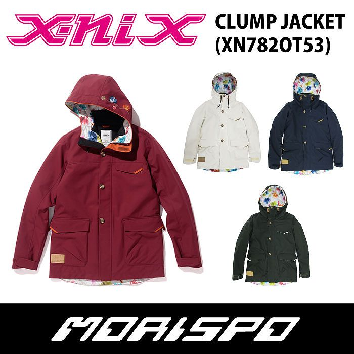 X-NIX / エクスニクス / CLUMP JACKET / XN782OT53 / 17-18 [モリスポ] スノーボードウェア レディースジャケット スノボ