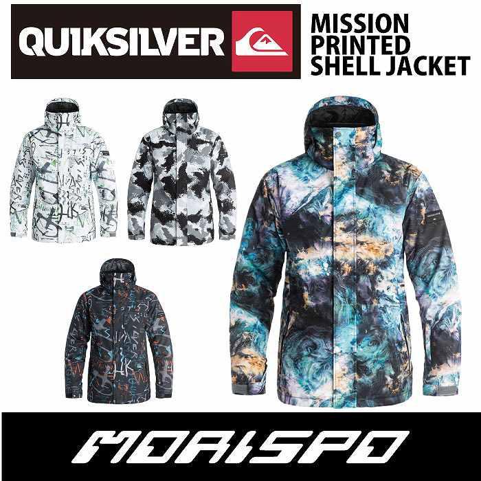 QUIKSILVER / クイックシルバー / MISSION PRINTED SHELL JACKET / EQYTJ03088 / 16-17 [モリスポ] スノーボードウエア メンズジャケット スノボ