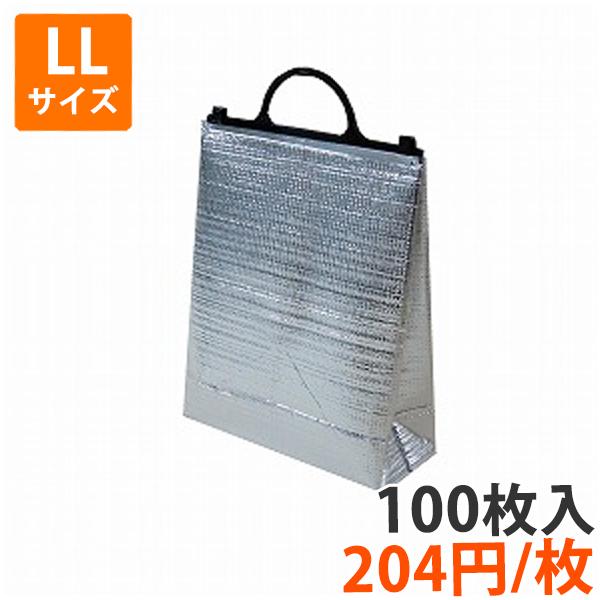 【保冷袋】角底保冷袋黒LLサイズ幅375×マチ130×高390mm 100枚入