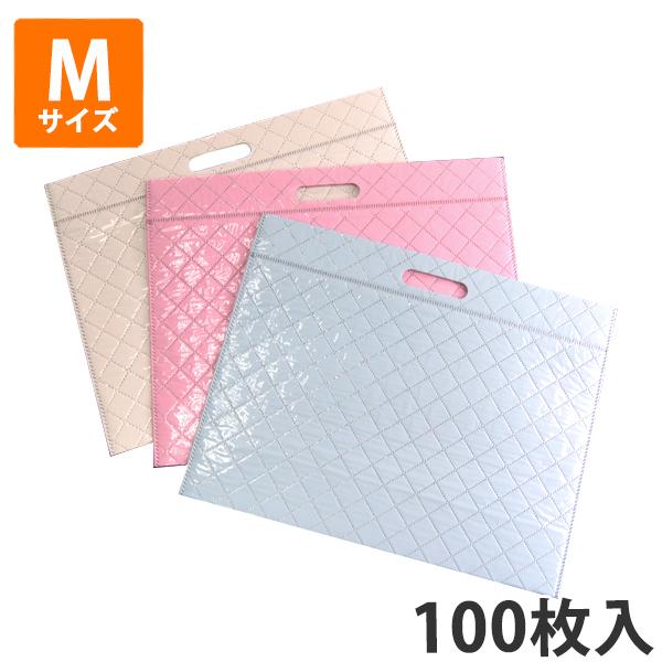 【保冷袋】キルト柄保冷袋M W380×H295×底マチ120(mm) (100枚入) 【代引不可】