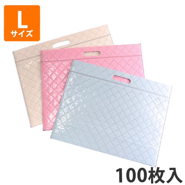 【保冷袋】キルト柄保冷袋L W440×H345×底マチ150(mm) (100枚入) 【代引不可】