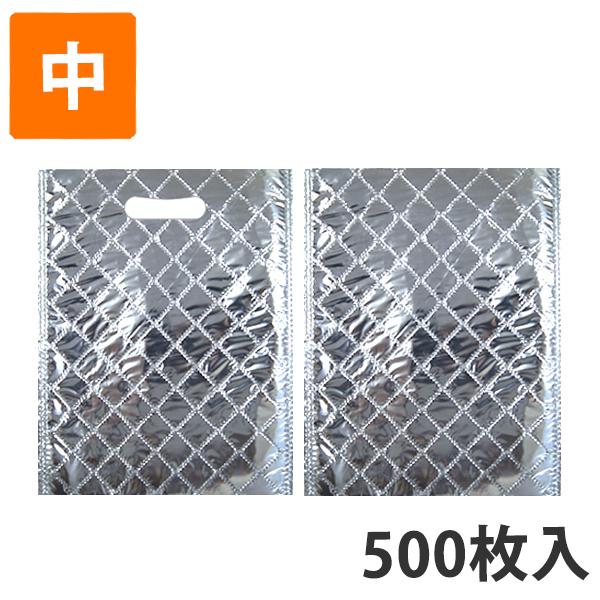【保冷袋】保冷袋(内面アルミ生地) 中 245×325mm (500枚入)【代引不可】