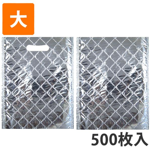 【保冷袋】保冷袋(内面アルミ生地) 大 280×375mm (500枚入)【代引不可】
