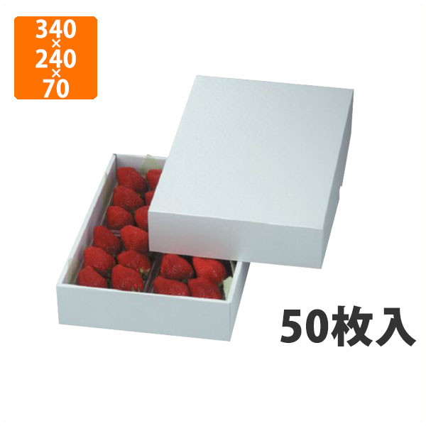 【化粧箱】LTO-27パール いちご4ヶ 340×240×70mm(50枚入)【代引不可】