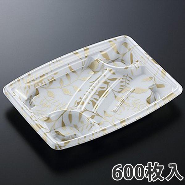 【弁当容器】 TPつづみ 24-18C アリアG 235×180×29mm(600枚入)