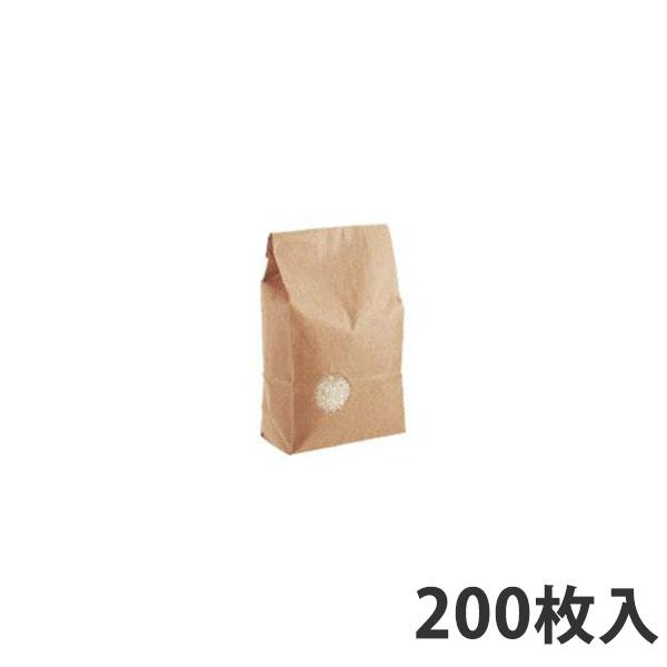 【米袋】 米袋WT窓付き無地 (テープ) 1kg (200枚入)