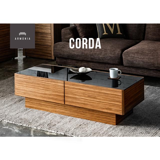 テーブル センターテーブル ローテーブル 収納 ガラステーブル ガラス リビング収納 リビングテーブル センターテーブル 木製 ナチュラル ゼブラウッド 120 インテリア 家具 北欧 モダン Corda