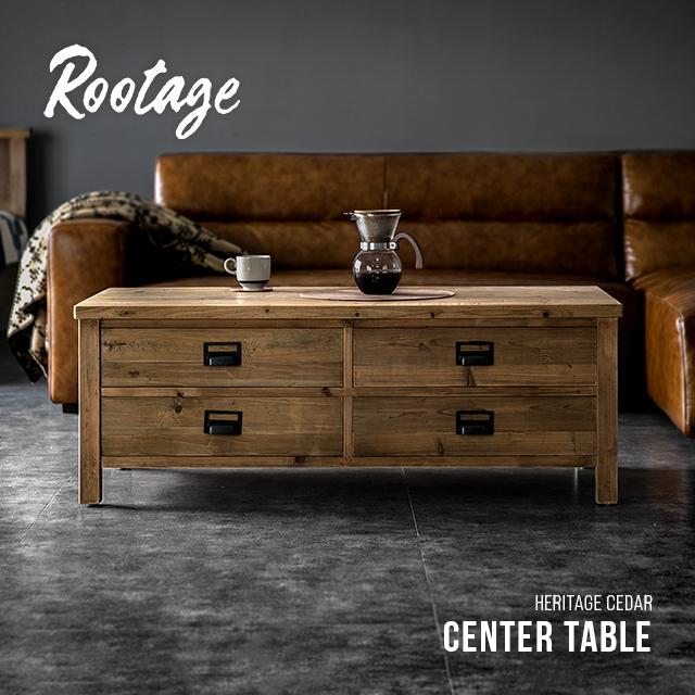 【10%OFF 6/4 20時から】 ローテーブル テーブル 完成品 送料無料 無垢材 センターテーブル 引き出し 収納付き 120cm リビングテーブル コーヒーテーブル 長方形 おしゃれ ヴィンテージ ビンテージ アンティーク 古材