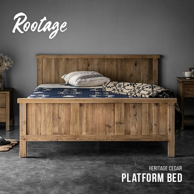 ベッド ダブル 送料無料 天然木 無垢材 ベッドフレーム すのこ ダブルベッド 木製ベッド ローベッド 脚 おしゃれ ヴィンテージ ビンテージ アンティーク 古材