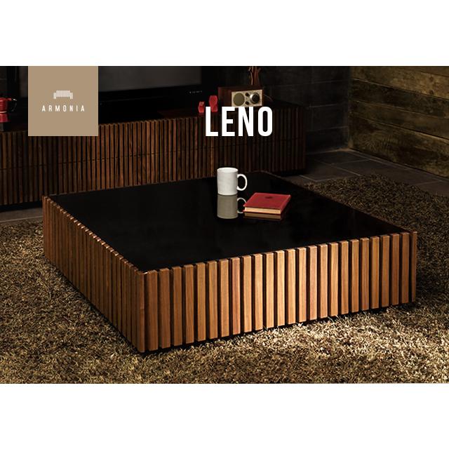 テーブル センターテーブル 正方形 ガラステーブル 鏡面 ローテーブル リビングテーブル シンプル ガラス 木製 ウォールナット インテリア 家具 北欧 モダン Leno