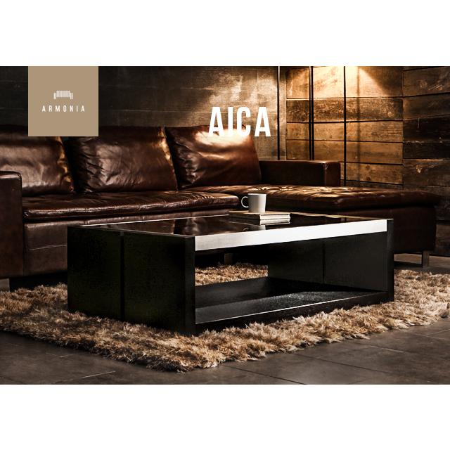 センターテーブル テーブル 横長 ガラステーブル ローテーブル 鏡面 モダン リビングテーブル 木製 シンプル インテリア 家具 北欧 モダン AICA
