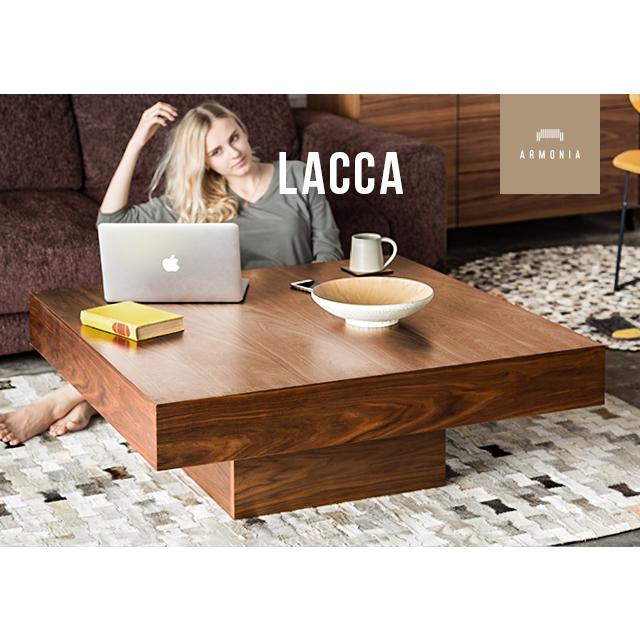 テーブル ローテーブル センターテーブル 木製テーブル 正方形 木目 木製 ウォールナット オーク ナチュラル シンプル インテリア 家具 北欧 モダン lacca