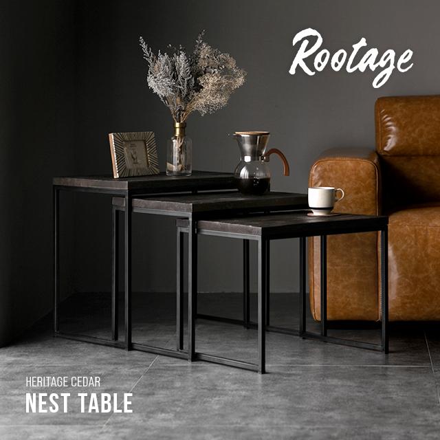 サイドテーブル 完成品 送料無料 無垢材 ネストテーブル ローテーブル テーブル アイアン 木製 おしゃれ ヴィンテージ ビンテージ アンティーク 古材
