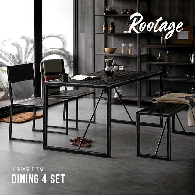 ダイニングテーブルセット 4点セット ダイニングテーブル チェア ベンチ Rootage