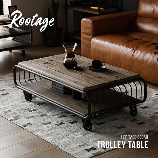 センターテーブル 完成品 送料無料 無垢材 ローテーブル テーブル キャスター付き 棚 収納付き 120cm リビングテーブル コーヒーテーブル アイアン 長方形 おしゃれ ヴィンテージ ビンテージ アンティーク 古材