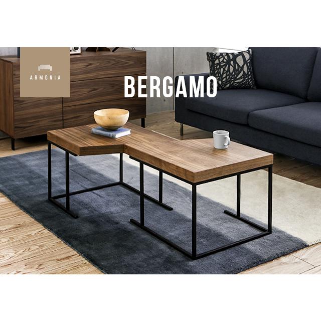 テーブル センターテーブル セパレート 組み換え自由 ローテーブル 木製 ウォールナット ゼブラウッド リビング サイドテーブル ナチュラル シンプル 家具 北欧 モダン Bergamo