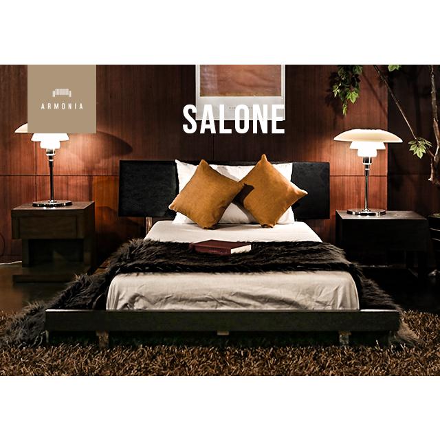 ベッド シングル セミダブル ローベッド bed ベット シングルサイズ セミダブルサイズ 天然木 ウォールナット ベッドルーム ナチュラル デザイナーズ シンプル インテリア 家具 北欧 モダン アルモニア 新生活