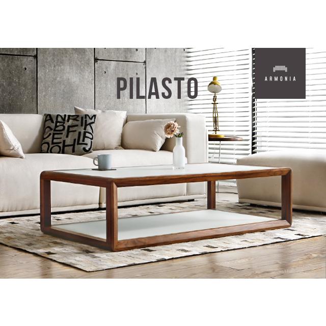 テーブル ローテーブル 北欧 センターテーブル ガラステーブル 木製テーブル ウォールナット 木製 ガラス 白 インテリア 家具 モダン アルモニア 新生活 Pilasto