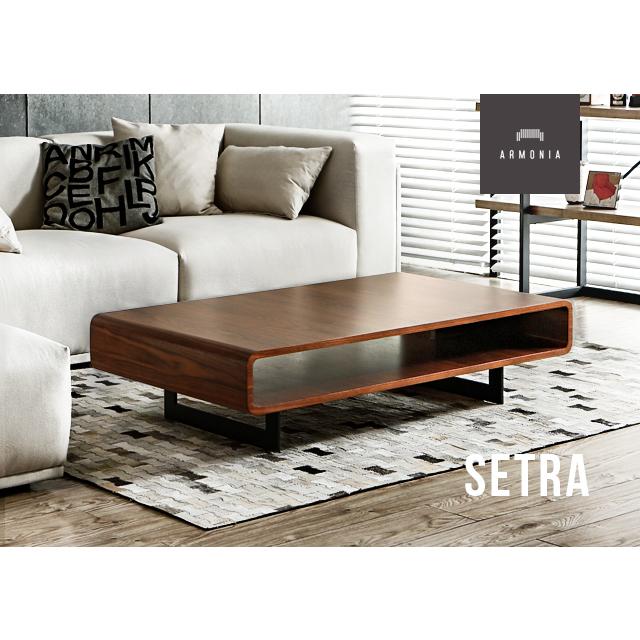 テーブル センターテーブル 木製テーブル 木目 木製 横長 リビングテーブル 北欧 ナチュラル シンプル デザイナーズ ローテーブル コーヒーテーブル Setra