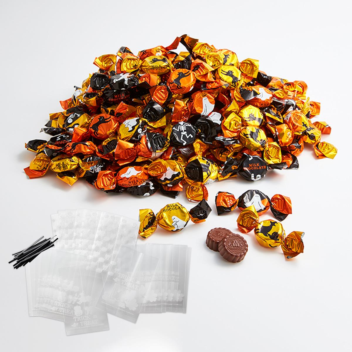 小分け袋とワイヤー入り ミルクチョコレート詰合せ 最安値挑戦 モロゾフ バースデー 記念日 ギフト 贈物 お勧め 通販 000g ハロウィーン 1