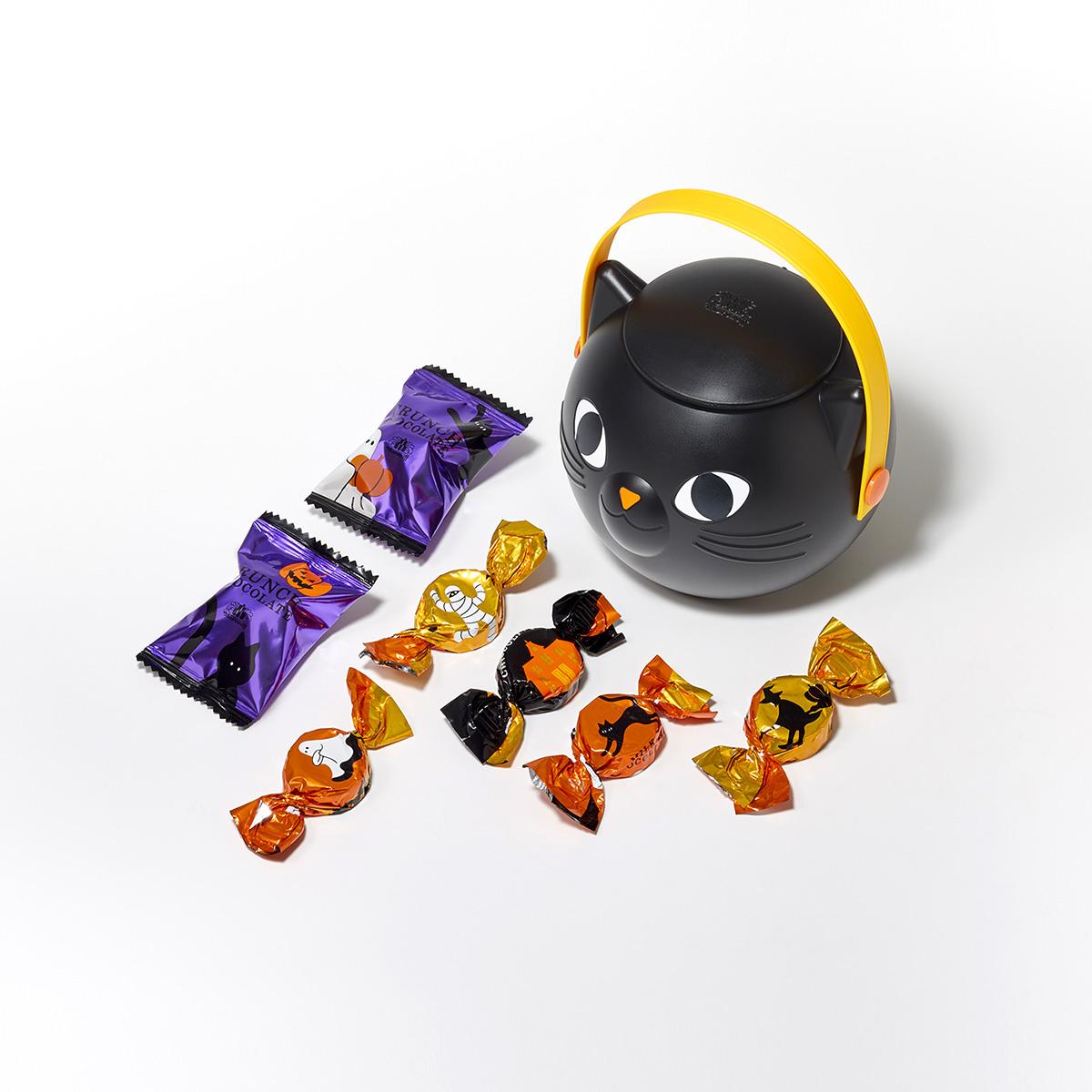 黒猫ランターンにチョコレートとクランチチョコレートを詰合せ モロゾフ 男女兼用 クローニャ ランターン 7個入 定番から日本未入荷