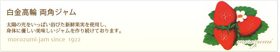 白金高輪 両角(モロズミ)ジャム:港区白金でジャムを作り続けて90年の両角(モロズミ)ジャムです。