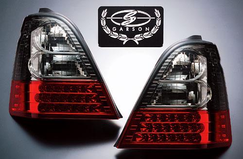 【代引き不可】 ギャルソン LED クリスタル&レッドテールレンズ 【スモーク】 GE010-80 RA6~9 オデッセイ 前期専用