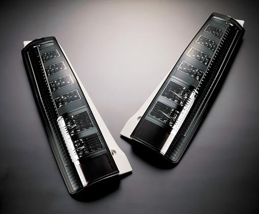 【代引き不可】 ギャルソン チューブフルLEDテール【スモーク】 GE012-75 MH21 ワゴンR 1-5型 前後期スティングレー対応,リフレクター内蔵