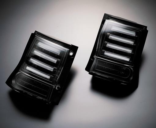 【代引き不可】 ギャルソン チューブデュアルLEDテール【インナーブラック】 GE012-82 L375 タント 前後期装着可,2011/12以降車対応