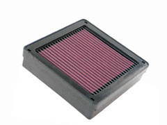 K&N REPLACEMENT FILTER エアフィルター MITSUBISHI ランサーセディア CS5W Turbo 01.05-07.08 4G93(T) 1800 【33-2105】