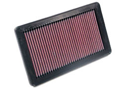 K&N REPLACEMENT FILTER エアフィルター HONDA シビック FD2 06.04- K20A 2000 【33-2343】