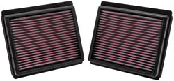 K&N REPLACEMENT FILTER エアフィルター NISSAN フーガ Y51 09.11- VQ25HR 2500 【33-2440】(2個入り)