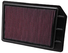 K&N REPLACEMENT FILTER エアフィルター SUZUKI キザシ RE91S/RF91S 09.10- J24B 2400 【33-2441】