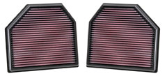 K&N REPLACEMENT FILTER エアフィルター BMW 5 SERIES F10/F11 M5 4.4TT FV44M 11- S63B44B 【33-2488】(2個入り)