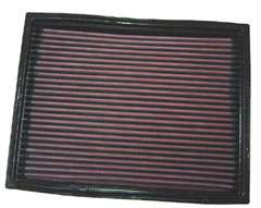 K&N REPLACEMENT FILTER エアフィルター LANDROVER DISCOVERY 3.9 V8 Chassis:MA (Panel filter) LJR 93-95 3900 【33-2737】
