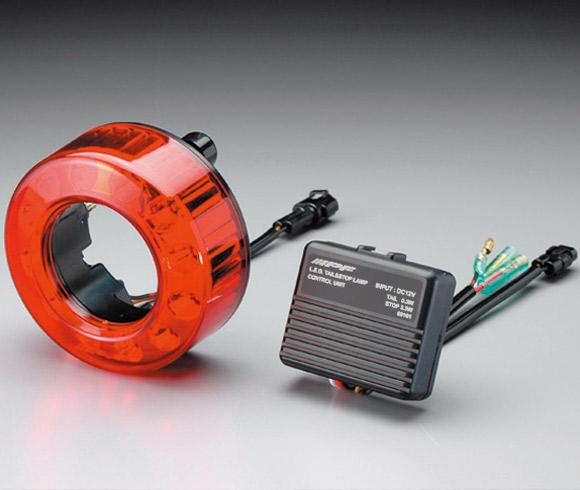 IPF LED丸形テール&ストップランプ 【TL-01】カスタムマテリアル用 12v-0.3w(TAIL)/-3.3w(STOP)(1個入) | アイピーエフ CUSTOM パーツ TAIL&STOP LAMP TL01