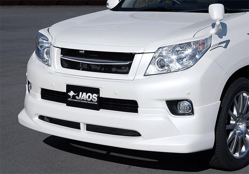 JAOS ジャオス フロントハーフスポイラー 【B020065】 プラド 150系 09.09-13.09 (未塗装:生地色ブラック)