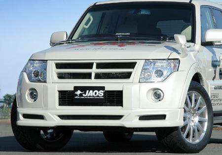 JAOS ジャオス フロントハーフスポイラー 〔B020328〕 パジェロ V80/90系 (未塗装:白ゲルコート)