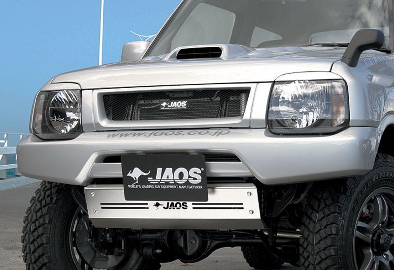 JAOS ジャオス フロントクロスカウル 〔B044512〕 ジムニー JB23系 98.10- (未塗装品:生地色ブラック)