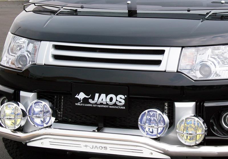 JAOS ジャオス フロントグリル 〔B060304A〕 カメラ無用 デリカ D:5 07.01- (未塗装品:白ゲルコート)