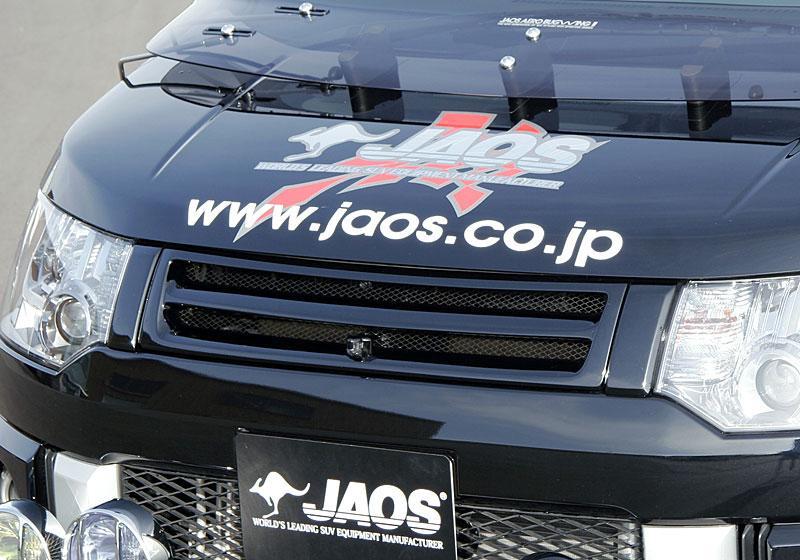 JAOS ジャオス フロントグリル 【B060304B】 カメラ付用 デリカ D:5 07.01-12.06 (未塗装 白ゲルコート)