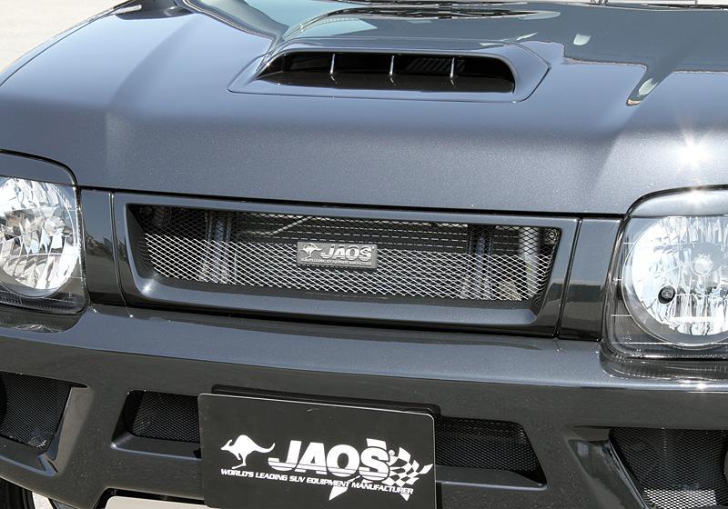 JAOS ジャオス フロントグリル 〔B060512〕 ジムニー JB23/33/43系(未塗装:白ゲルコート)
