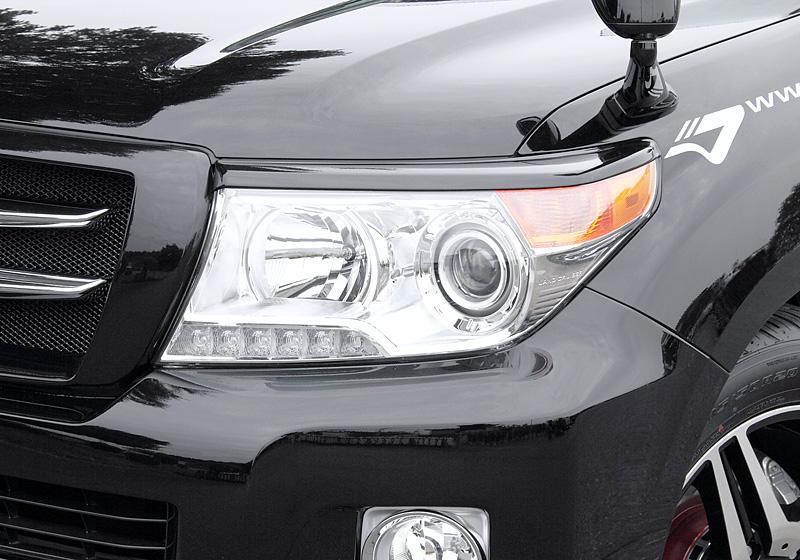 JAOS ヘッドライトガーニッシュ ランドクルーザー 200系 【B071049】12.01- 塗装:未塗装